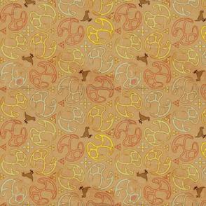 ©2011 Bird Motif-Peach Papyrus