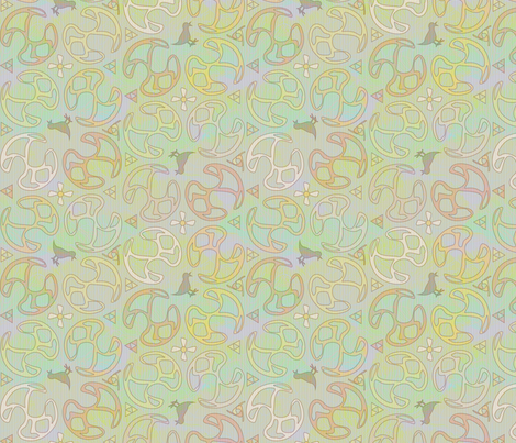 ©2011 Bird Motif - Celtic Delight fabric by glimmericks on Spoonflower - custom fabric