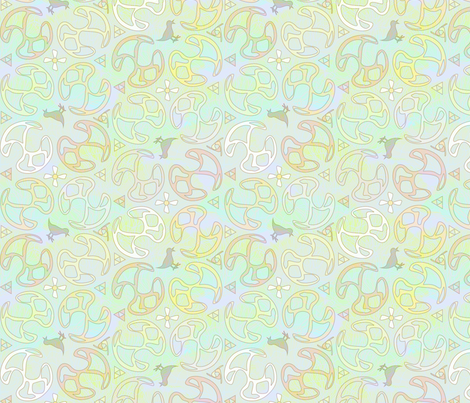 ©2011 Bird Motif - Pastel fabric by glimmericks on Spoonflower - custom fabric