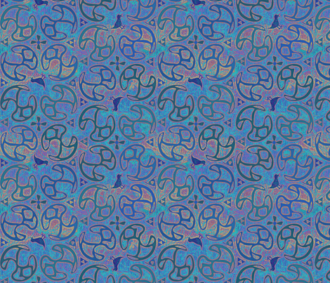 ©2011 Bird Motif - Atlantis fabric by glimmericks on Spoonflower - custom fabric