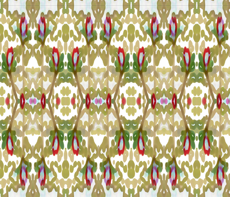 Flower Garden Small fabric by sewbiznes on Spoonflower - custom fabric