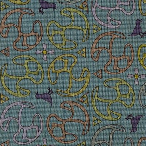 ©2011 Bird Motif - Dusty Teal