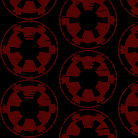 Imperial Symbol fabric by nerdbaitplus3 on Spoonflower - custom fabric