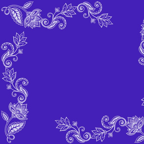 Lotus and Paisley in Cobalt