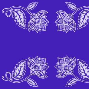 White Lotus on Cobalt