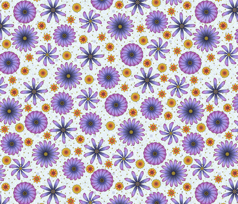 Piyo's Flowers fabric by siya on Spoonflower - custom fabric