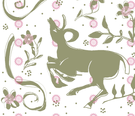 deer fabric by heavenstobetsy on Spoonflower - custom fabric