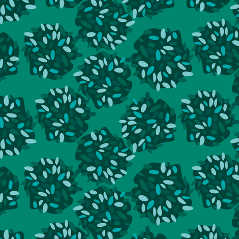 Hiding in the bushes fabric by zoebrench on Spoonflower - custom fabric