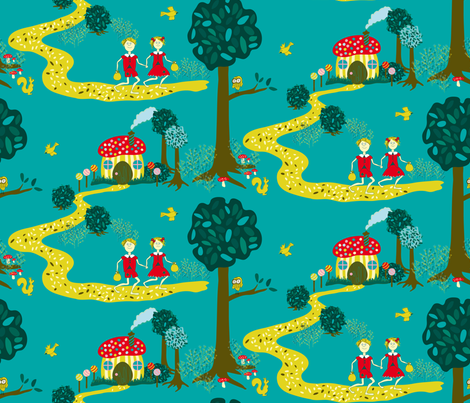 Escape to Riches fabric by zoebrench on Spoonflower - custom fabric