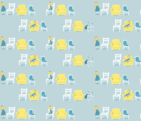 Goldilocks and the bears' chairs fabric by juliannlaw on Spoonflower - custom fabric
