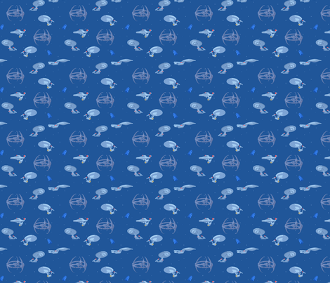 Space. The Final Frontier. fabric by wulfae on Spoonflower - custom fabric