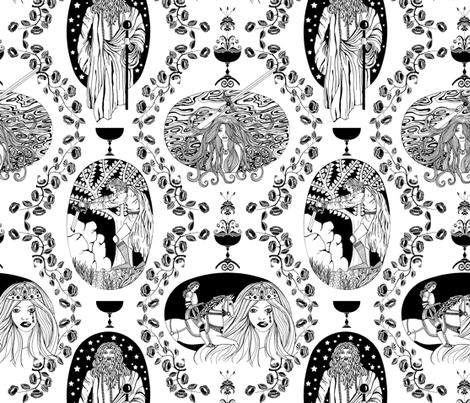 Tales of King Arthur fabric by uzumakijo on Spoonflower - custom fabric