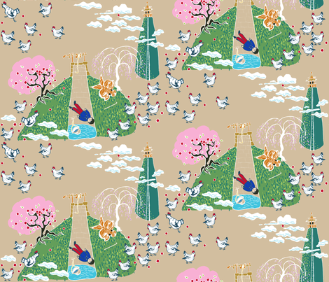 Tikki Tikki Tembo fabric by joybucket on Spoonflower - custom fabric