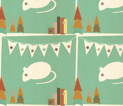 The City & Country Mouse fabric by the_lovely on Spoonflower - custom fabric