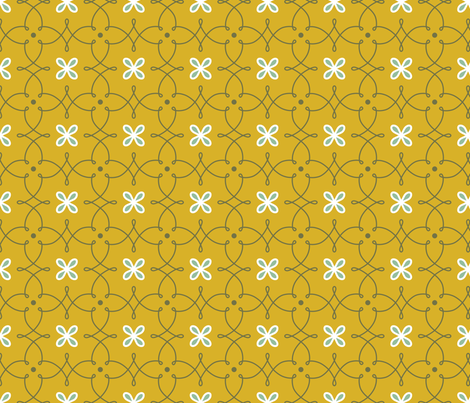 Fine Curves gold fabric by kayajoy on Spoonflower - custom fabric