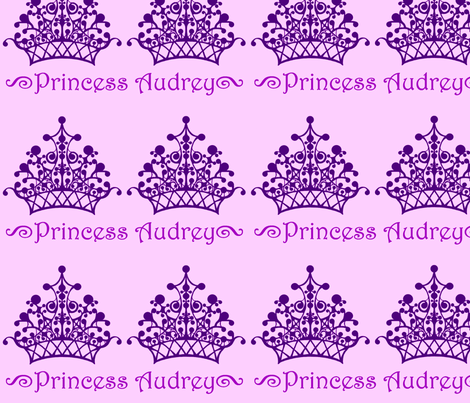 Purple on Purple Princess Audrey fabric by sarahthomas on Spoonflower - custom fabric