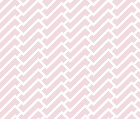 Fretwork in pink fabric by domesticate on Spoonflower - custom fabric