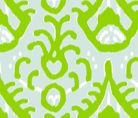 Mojito Ikat (reverse) fabric by domesticate on Spoonflower - custom fabric