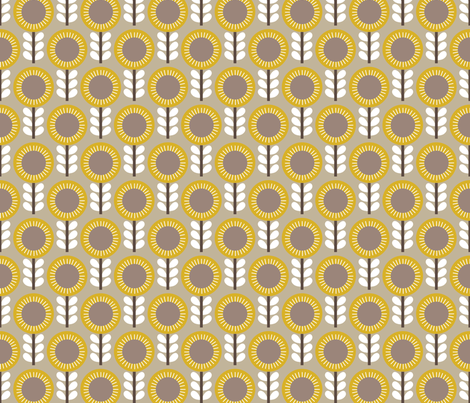 Flower Scales gold-grey fabric by kayajoy on Spoonflower - custom fabric