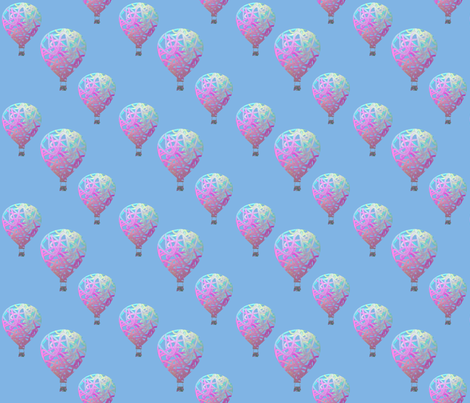 Sky balloons, large fabric by su_g on Spoonflower - custom fabric