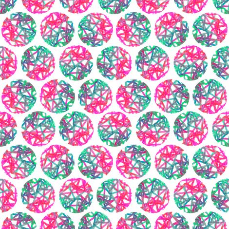 Bright star polka on white fabric by su_g on Spoonflower - custom fabric