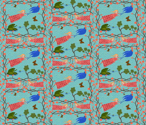 A Fable: Thumbelina Be true to your heart fabric by vo_aka_virginiao on Spoonflower - custom fabric