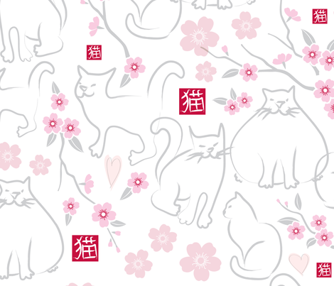 The Boy Who Drew Cats fabric by jennartdesigns on Spoonflower - custom fabric