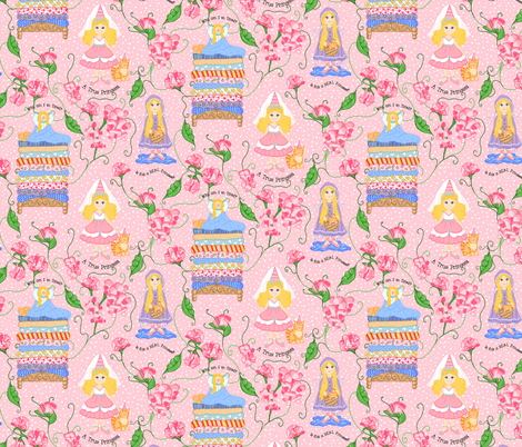 PRINCESS_AND_THE_PEA fabric by beebumble on Spoonflower - custom fabric