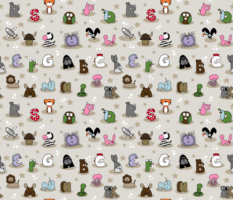 Animal Alphabet Show- Small  fabric by mayabella on Spoonflower - custom fabric