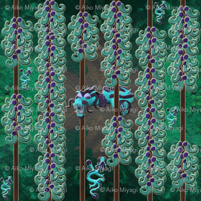 Jade vine dragon