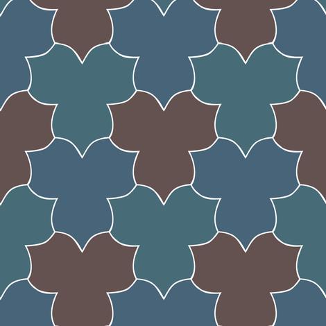 tessellating_trilliums_wht-lines_indigo_dkblgrn-brn