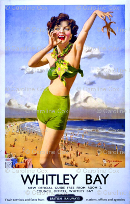 Art-Poster-Travel-Whitley-Bay-UK-UK-Archives-Flickr-Commons