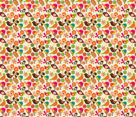 Little Birds fabric by valentinaharper on Spoonflower - custom fabric