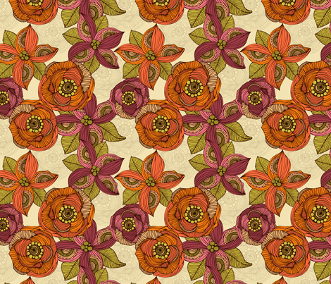Orange and Purple fabric by valentinaharper on Spoonflower - custom fabric