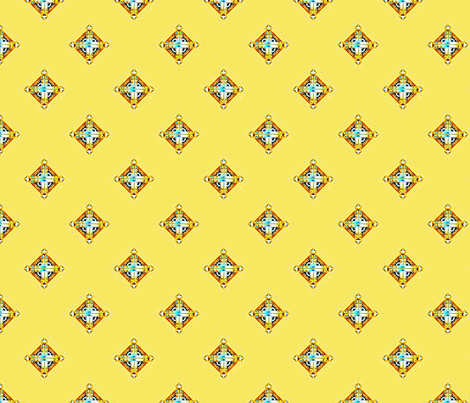 Deco Diamonds yellow fabric by joanmclemore on Spoonflower - custom fabric
