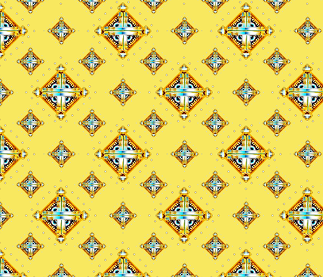 Deco Diamonds large yellow fabric by joanmclemore on Spoonflower - custom fabric