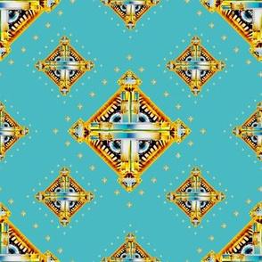Deco Diamonds turquoise