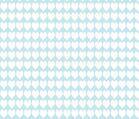 Hearts and French Script Tiffany Blue Three fabric by karenharveycox on Spoonflower - custom fabric