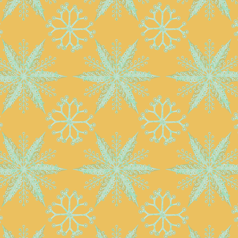 Nordic Glitter Mint on Gold fabric by glimmericks on Spoonflower - custom fabric
