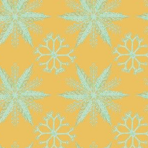 Nordic Glitter Mint on Gold