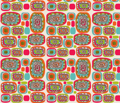 Pods Flowers fabric by valentinaharper on Spoonflower - custom fabric