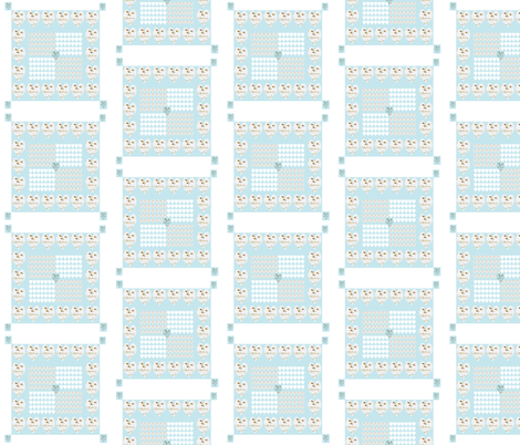 Hearts and French Script Tiffany Blue Eight fabric by karenharveycox on Spoonflower - custom fabric