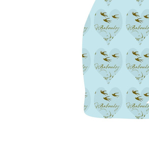Hearts and Frech Script Tiffany Blue Cat