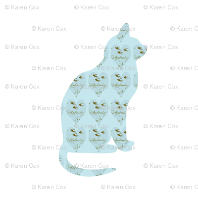 Tiffany Blue Hearts Cat Two
