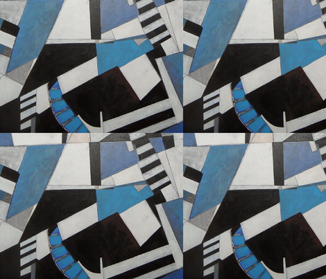 rythm blue fabric by abstracthands on Spoonflower - custom fabric