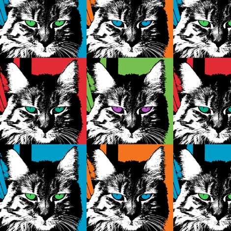 Shadow Cat  fabric by andibird on Spoonflower - custom fabric