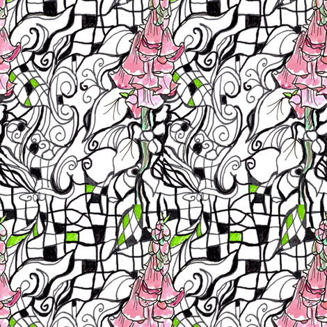Foxglove Zen fabric by countrygarden on Spoonflower - custom fabric