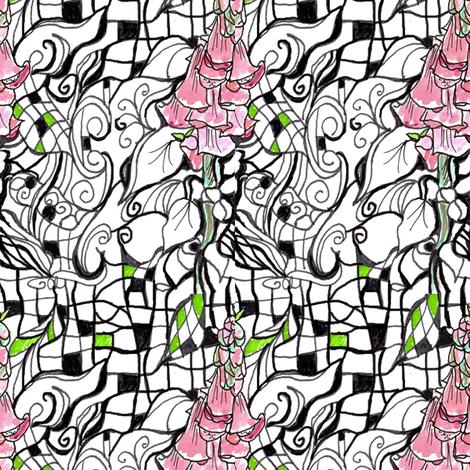 Foxglove Zen fabric by countrygarden on Spoonflower - custom fabric