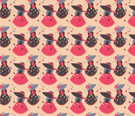 Modern Vintage Sue fabric by eppiepeppercorn on Spoonflower - custom fabric