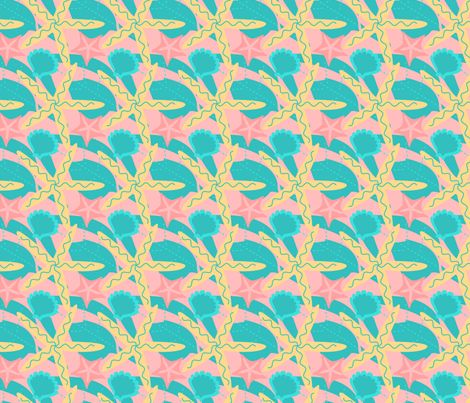 Little Girl's Beach fabric by eppiepeppercorn on Spoonflower - custom fabric